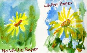 white paper watercolor painting mistake