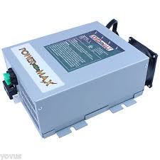 rv power converter powermax pm4 100 amp rv power converter 12vdc volt dc battery charger maintainer