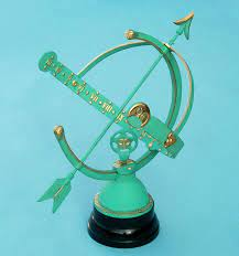 brass armillary sphere garden sundial