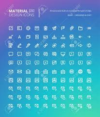 Material Design Email Icon Set Of Material Design Line Icons Pixel Perfect Icons For Email