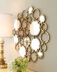 metal gold mirror ring circles wall art
