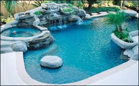 inground pools with waterfalls and hot tubs. Here\u0027s A Luxury Swimming Pool With Large Rock Waterfall And Hot Tub. Inground Pools Waterfalls Tubs P