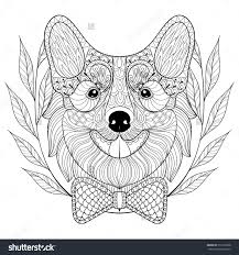 Small Picture Corgi Coloring Pages Corgi Coloring Pages Download And Print For