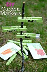garden labels. Easy DIY Clothespins Garden Markers Labels