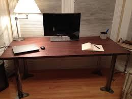 Furniture Diy Work Desk Design In Bedroom With Steel Leg And Table