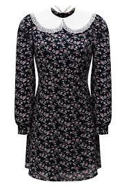 <b>Платье School girl</b> чернильное с цветочным принтом — Botrois