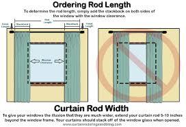 standard window curtain rod length