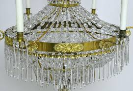 empire crystal chandelier with ten lights circa french uk empire crystal chandelier