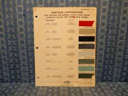 1962 Chrysler Dodge Plymouth Imperial Truck Original Paint Color Chart 4 Pages Nos Texas Parts Llc Antique Auto Parts