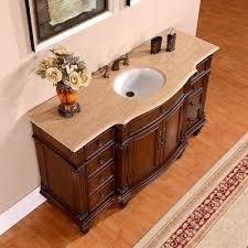 silkroad 60 inch vintage single sink bathroom vanity vein cut top