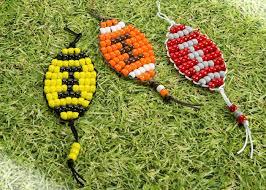 Beaded Keychain Patterns Mesmerizing Football Pony Bead Patterns Craft Ideas