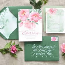 Wedding Invitations Watercolor 25 Pretty Watercolor Wedding Invitations Brides