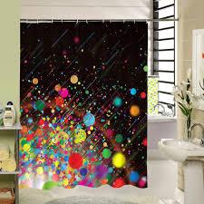 Großhandel Bunter Punkt Duschvorhang Gewebe Polyester 3d Das