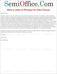 Letter To School Principle Letter To Principal Requesting For Extra Classes