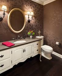 Powder Room Lighting rustic wallpaper powder room traditional with dark floor bathroom 5470 by xevi.us