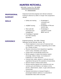 amazing railroad conductor resume contemporary simple resume