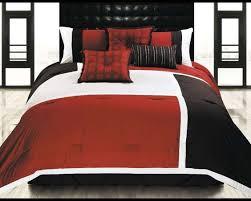 hallmart color blocks spice comforter set 12999 from beddingcom red black bedroombreathtaking stunning red black white