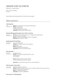 Sample Of Chef Resume Chef Resumes Examples Sample Cook Resume