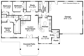 Ranch House Plans   Elk Lake     Associated DesignsRanch House Plan   Elk Lake     Floor plan