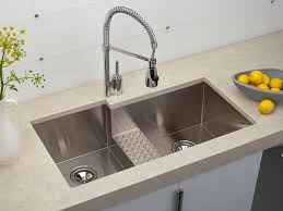 kitchen sink stainless steel double sink with vas flowers and gray wall amazing