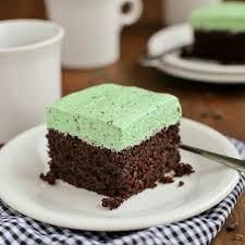 Chocolate Cake With Fluffy Mint Chocolate Chip Buttercream A