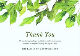 Thank You For Sympathy Card Bereavement Thank You Notes Lovely Wording Examples