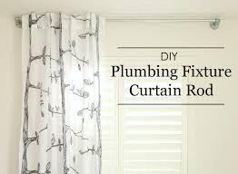 shower curtain rod ideas. DIY: Plumbing Fixture Curtain Rod Shower Ideas
