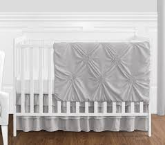 solid color grey shabby chic harper baby girl crib bedding set without per by sweet jojo designs 4 pieces only 139 99