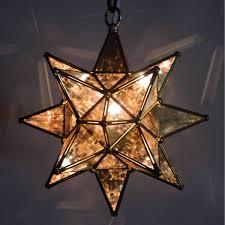 star pendant lighting. 9640SAntique Glass Dark Trim Star Pendant Lighting R
