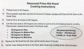Prime Rib Roast Cooking Times Chart Costco Prime Rib Roast 2014 Costco Insider