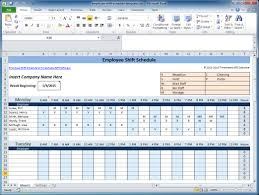 excel for scheduling free employee and shift schedule templates