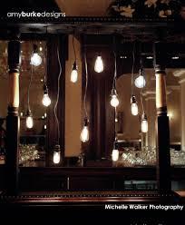 Edison Light Stand Vintage Edison Light Bulb Stand On Bar Floral Design Bulb