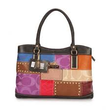 Coach Holiday Fashion Stud Medium Black Multi Satchels EBJ