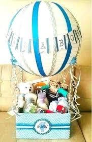 baby shower gift basket ideas baby gift baskets ideas hot air balloon baby shower gift basket