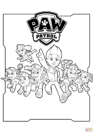 All Paw Patrol Characters Coloring Page Free Printable Coloring Pages