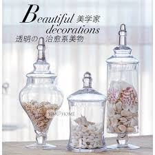 Decorative Glass Candy Jars 100 SET transparent lid storage bottle glass candy jars Wedding 42