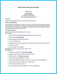How To Write A Resume For Bank Teller Position With No Experience
