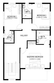 floor plan of a house with dimensions. Pinoy-house-plans-2014004-second-floor Floor Plan Of A House With Dimensions