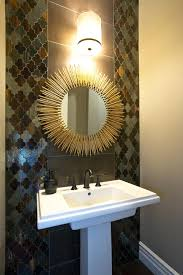 powder room lighting houzz glamorous lighting in powder room with sacks tile next to mirror tile