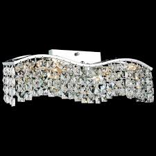 Picture Of Gesto Modern Rectangular Wave Wall Sconce Vanity Light Polished Chrome Clear  Smoky