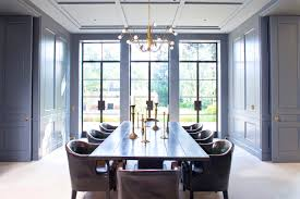 Dining Rooms Designs Dove Grey Walls Provide Warmth To This Dining - Gray dining room paint colors