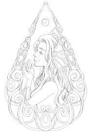 イラストa Mermaids Tear 人魚の涙 線画 塗り絵 人魚 イラスト