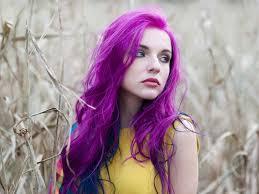 put brown dye on purple hair