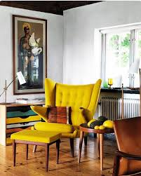 yellow furniture. Yellow Furniture Living Room Chairs Ideas Tabourets On Scandinavian Interior Stock Images Royalty Free Vectors