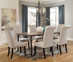 tripton 7 piece rectangular dining room table set by signature design by ashley