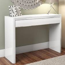 console table. Lexi White High Gloss Console Table