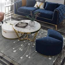 See more ideas about coffee table with seating, seat storage, seating. White Nesting Coffee Table With Ottomans Faux Marble Coffee Table With Stool Round Wood Coffee Table