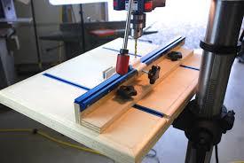 drill press table back