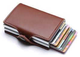 <b>Genuine Leather</b> Credit <b>Card</b> Holder RFID Blocking Case <b>Wholesale</b>