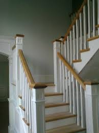 wonderful oak Stainless Steel Handrails For Stairs Ideas With Wheat Wall  with white railing for interior
